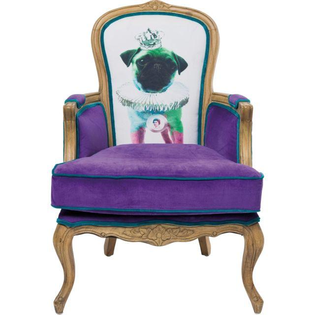 Karedesign Fauteuil Villa Grandfather violet carlin Kare Design