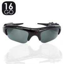 SecuriteGOODdeal - Lunette camera 16GO, lunette espion solaire