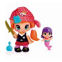 Figurine Pirate et sa Petite Sirène - Rouge