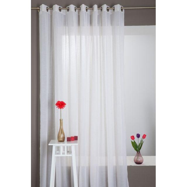 rideaudiscount rideau voilage grande largeur effet lin. Black Bedroom Furniture Sets. Home Design Ideas