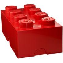 Lego - Brique de rangement 8 tenons - Rouge