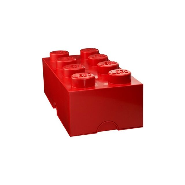 Lego - Brique de rangement 8 tenons - Rouge - pas cher Achat / Vente Boîte de rangement ...
