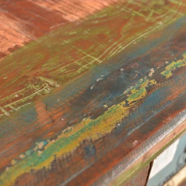 Icaverne - Commodes ligne Armoire avec 4 tiroirs Bois massif de récupération
