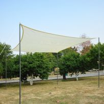 OUTSUNNY - Voile d\'ombrage triangulaire grande taille 6 x 6 x 6 m ...