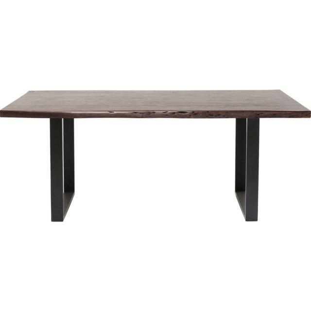 Karedesign Table Pure Nature noire noyer 180x90cm Kare Design