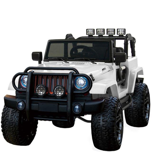 4135273697c6e5 VOITURE ELECTRIQUE - Grand 4x4 électrique tout terrain pour enfant 24 volts  blanc luxe pneus gomme