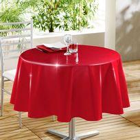 Douceur D'INTERIEUR - Nappe ronde 160 cm glossy rouge