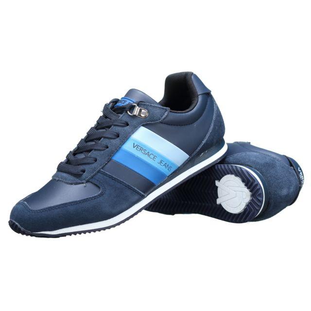 0ef855390b7 Versace Jeans - Basket E0yrbsa1 Me8 Bleu 43 - pas cher Achat   Vente Baskets  homme - RueDuCommerce