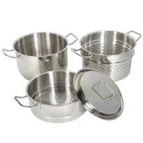 Artmetal - Set 4 pièces cuit pâtes vapeur en inox Artmétal Qualité Pro