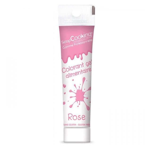 Scrapcooking Gel colorant alimentaire rose 20 g