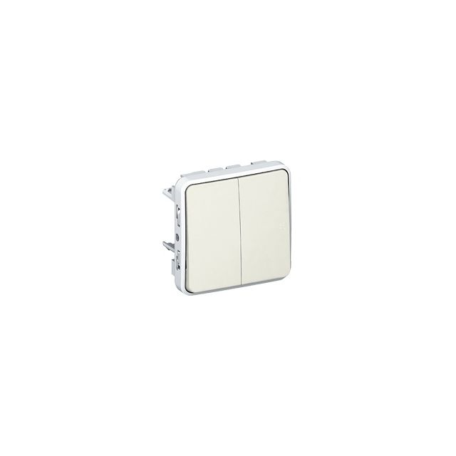 Legrand - bouton poussoir double - plexo 55 - blanc - composable