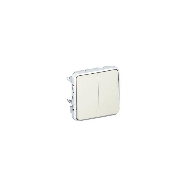 Legrand - bouton poussoir double - plexo 55 - blanc - composable