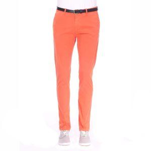 Scotch And Soda - Pantalon Chino Scotch & Soda Classic Garment en coton  stretch corail Orange
