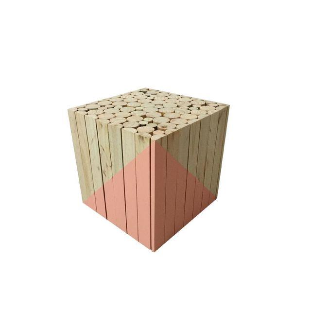 tabouret casier bois aubergine vendu par alfred et compagnie 706870. Black Bedroom Furniture Sets. Home Design Ideas