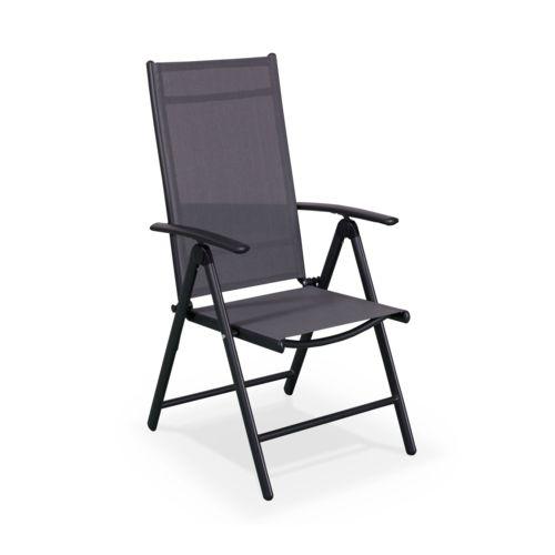 alice 39 s garden salon de jardin naevia anthracite gris en aluminium pas cher achat. Black Bedroom Furniture Sets. Home Design Ideas