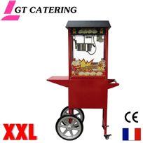 Gt Catering - Machine à pop corn professionnelle avec chariot