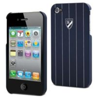 Cremieux - Coque Bleue marine iPhone 4 / 4S avec Film