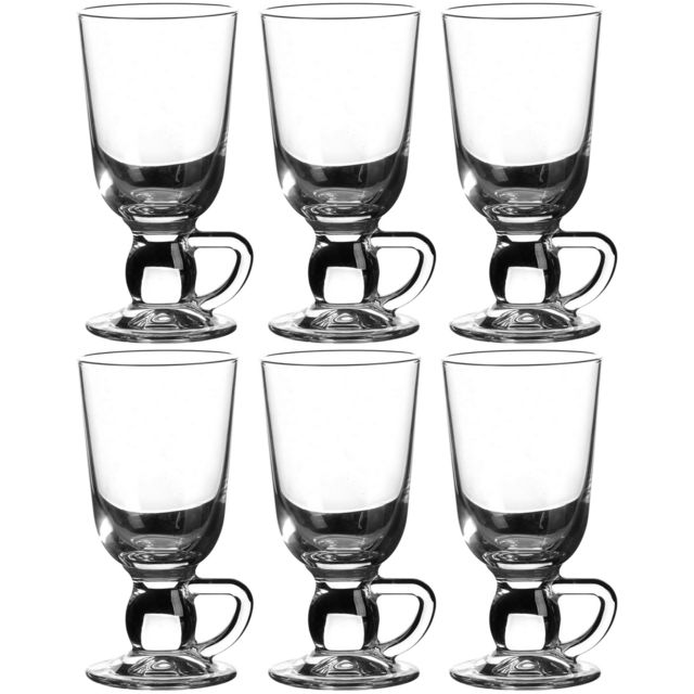 Promobo Set 6 Verre A Cocktail Tasse 28cl Café Idéal Irish Coffee Thé Cappuccino Boissons Frappés