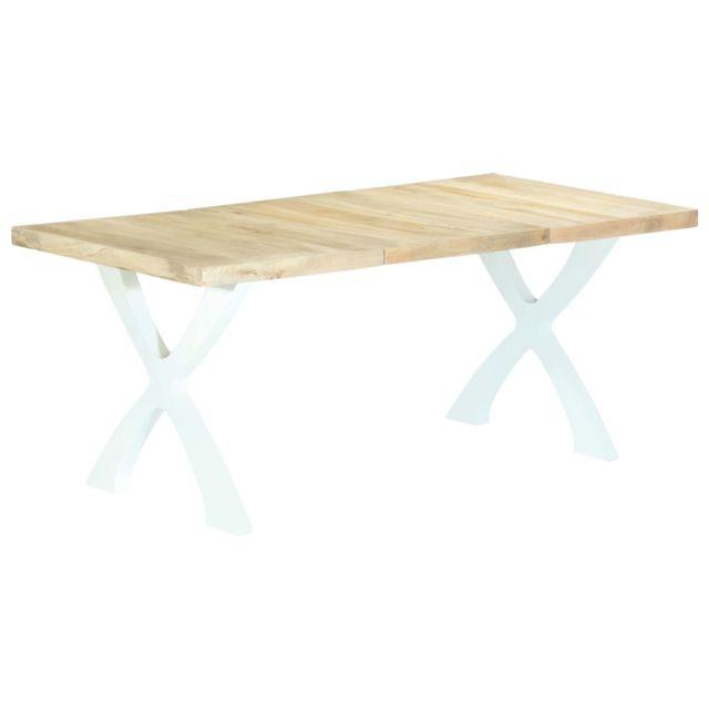 Moderne Tables reference Honiara Table de salle à manger 180x90x76 cm Bois de manguier massif