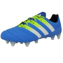 quality design abd8f dcf9d ... greece adidas performance ace 16.1 sg leather chaussures de football  homme bleu jaune blanc sprintframe 2e83a