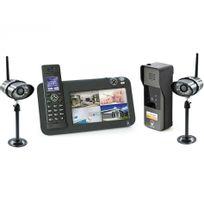 Scs Sentinel - Kit Interphone vidéo Dect + vidéosurveillance - 1 platine + 2 caméras - 1 platine + 2 caméras