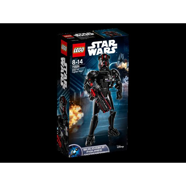 Lego Star Wars - Elite TIE Fighter Pilot - 75526 Elite TIE Fighter Pilot est un caractère dur avec un casque rouge à rayures, ladécoration de l'épaule, détail, semblable à un masque respiratoire et une