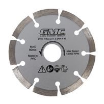 Gmc - Lame de scie diamant - Gts1500 - 110 x 22,23 x 2 mm, 9 dents