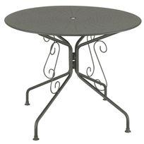 Mathilde Et Pauline - Table de jardin en acier ronde romantique diamètre 95cm Agatha