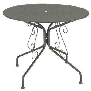 mathilde et pauline table de jardin en acier ronde romantique diam tre 95cm agatha gris. Black Bedroom Furniture Sets. Home Design Ideas