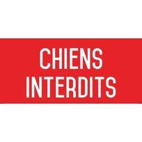 Editions Uttscheid - Chiens interdits - Autocollant vinyl waterproof - L.200 x H.100 mm