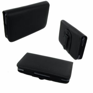 Inexstart - Etui Horizontal Noir Ceinture avec Clip de Sécurité pour Sony Xperia E5