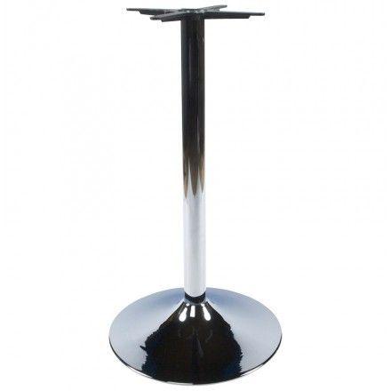TECHNEB Pied de table WIND rond sans plateau en métal 60cmX60cmX110cm, chromé