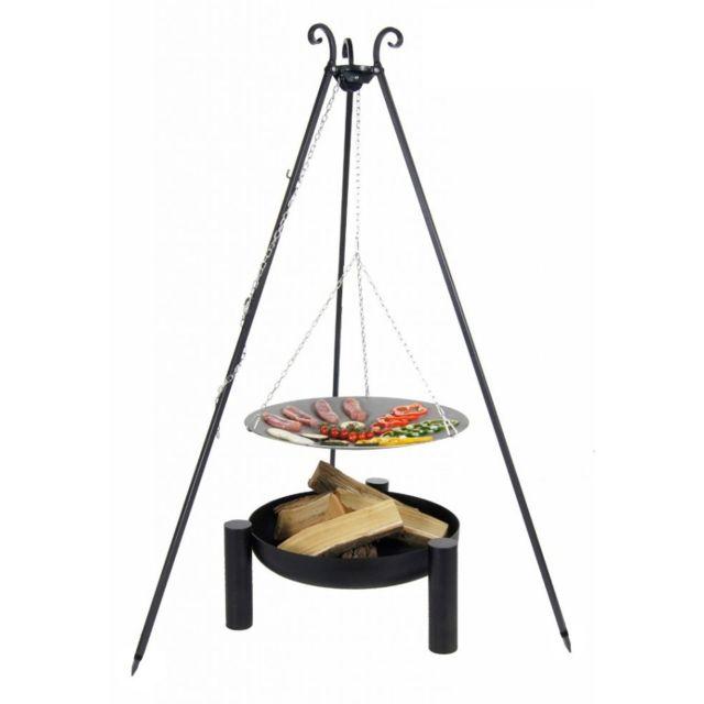 Cook - Maison De La Tendance La poêle, le Wok à feu de camp spécial brasero sur trépied Ø 46 cm + Brasero Palma 60 cm