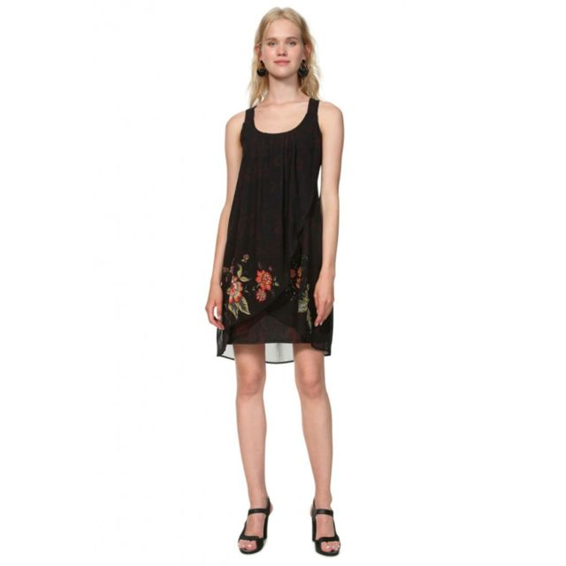 2eae72d51ee Desigual - Robe femme 19SWVWBX Julie noir - Taille - 38 - pas cher Achat   Vente  Robes - RueDuCommerce