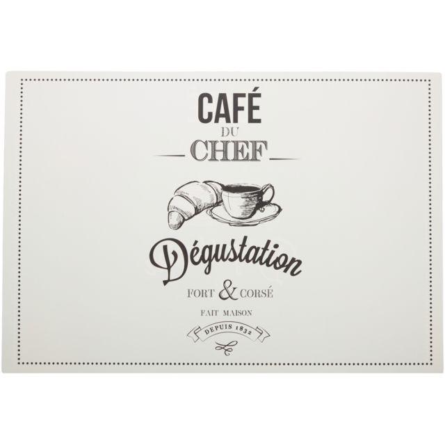 Promobo - Set de Table Double Face Café Du Chef Dégustation Thème ...