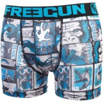 Freegun - Sous vêtement boxer Aff noir/bleu boxer Bleu 20384