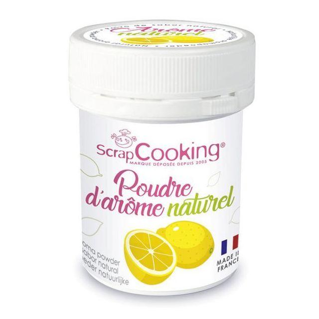 Scrapcooking Arôme alimentaire naturel en poudre 15 g - citron