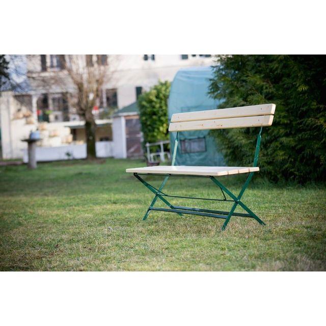 HABRITA Banc de jardin VICHY en sapin pliable - 4 personnes