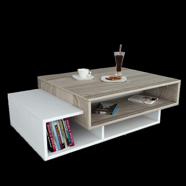 Alphamoebel Table basse Tab blanc-cordoba 105x32x60 cm