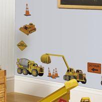 Jomoval - Roommates Stickers Muraux Repositionnables Enfant Chantier De Construction