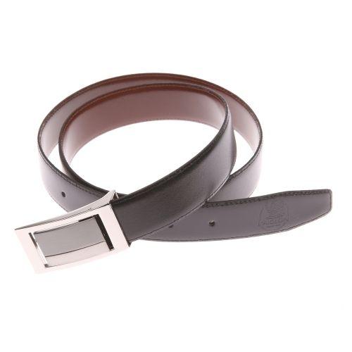 073299290e0 L aiglon - Ceinture noire réversible marron à boucle pleine - pas cher Achat    Vente Ceinture homme - RueDuCommerce