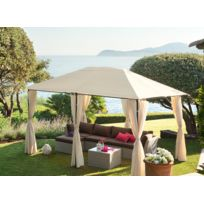 HESPERIDE - Tonnelle de jardin Santorini 3 x 4 m Ecru