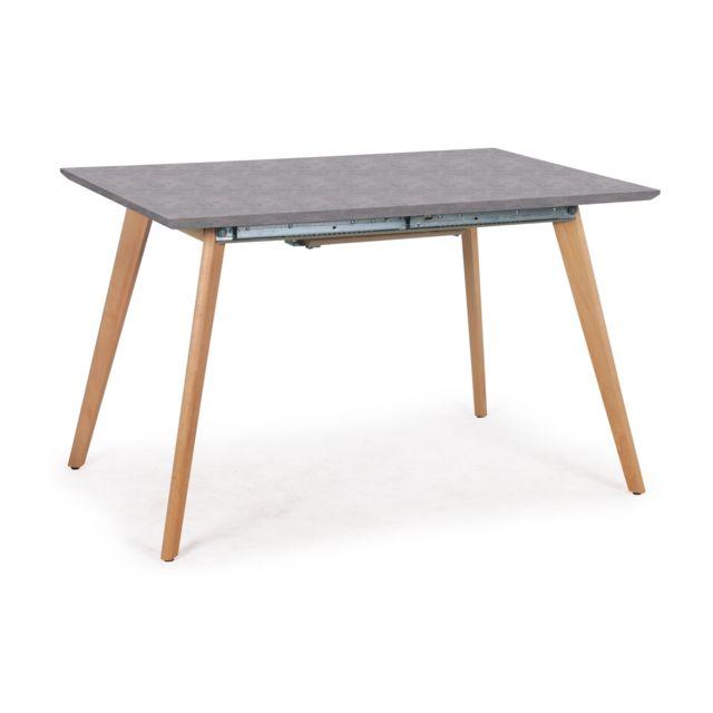 MENZZO Table extensible Bilbao effet Beton