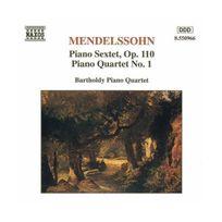 Naxos - Mendelssohn : Quatuor avec piano n 1 en ut mineur, op.1 - Sextuor en ré majeur, op.110
