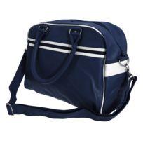 2fc905fea7 Bagbase - Sac de bowling rétro à bandoulière Taille unique, Bleu  marine/Blanc Utbc3416
