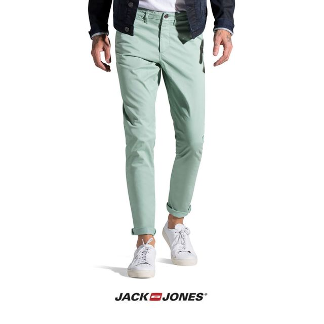 super populaire 91733 1507c Pantalon Chino Jack and Jones Marco Slim Vert pomme 12106050