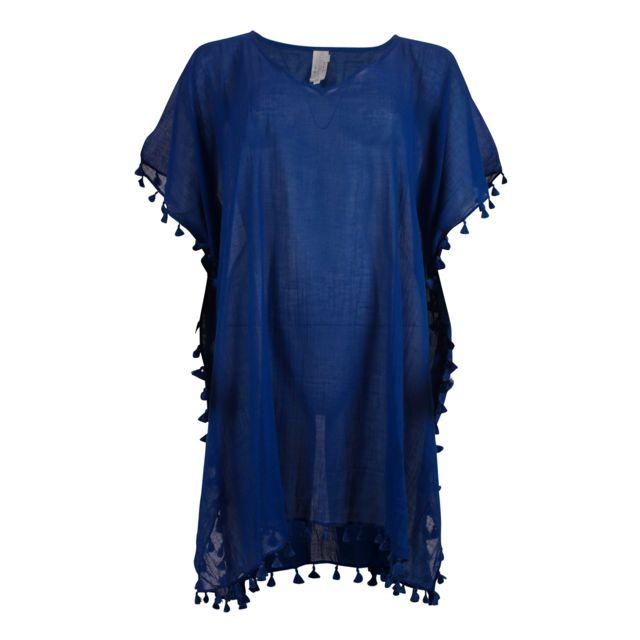 Seafolly - Tunique Amnesia Kaftan Bleu Taille unique - pas cher Achat    Vente Tuniques - RueDuCommerce 9a9b320e4c1c