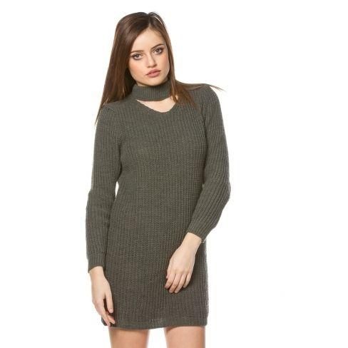 46249285a0a Princesse Boutique - Robe pull Vert col v ras de cou - pas cher ...