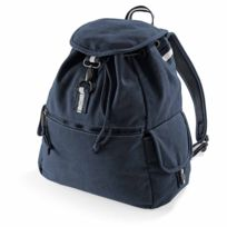f963b3c6ff Quadra - Sac à dos toile - look usé style vintage - bleu - Qd612 -