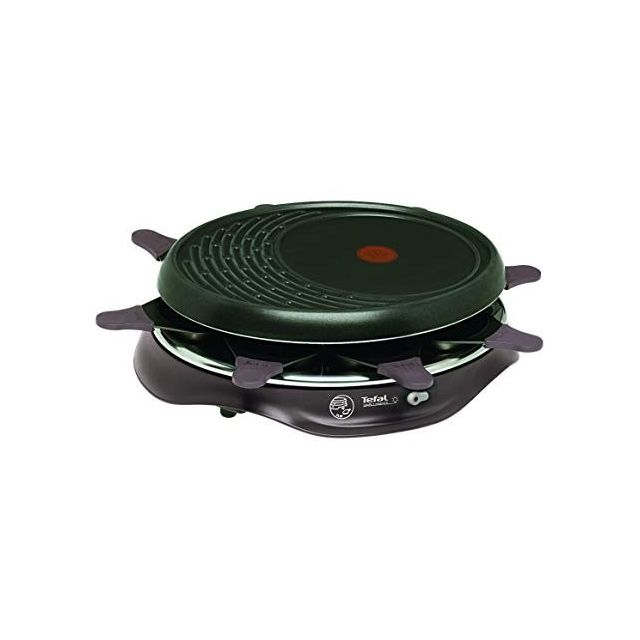 Tefal Raclette Grill Crêpe Simply Invents Cherry Black 8 personnes, Re516012